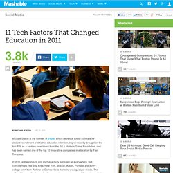 11 Tech Factors That Changed Education in 2011