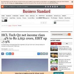 HCL Tech Q2 net income rises 4.4% to Rs 2,651 crore, EBIT up 17.9%