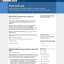 Tech and Law: August 2010