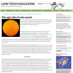 The ugly side of solar panels