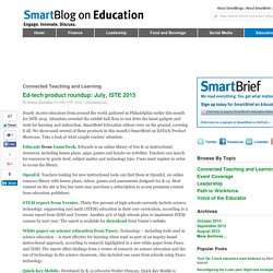 Ed-tech product roundup: July, ISTE 2015