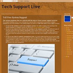Toll Free System Support