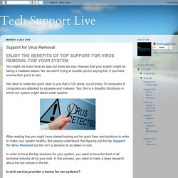 Tech Support Live: Support for Virus Removal
