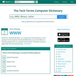 The Tech Terms Computer Dictionary