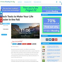 Tech Tools to Make Your Life Easier in the Fall