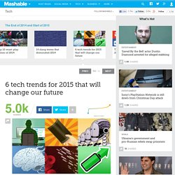 6 tech trends for 2015 that will change our future