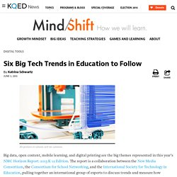 Six Big Tech Trends in Education to Follow