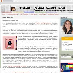 Tech You Can Do: A School App You Can Do
