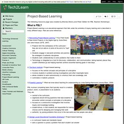 Tech2Learn - Project-Based Learning