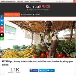 #TECHAfrique : Amoney, la startup fintech qui combat l'exclusion financière des petits paysans africains