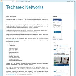 Techarex Networks: QuickBooks : A Look on World's Best Accounting Solution