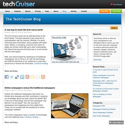 TechCruiser - CMS for Publishing Newspaper and Magazine
