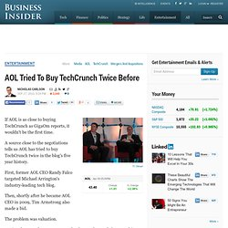 AOL Tried To Buy TechCrunch Twice Before