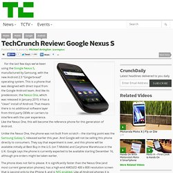 Review: Google Nexus S