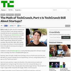 The Math of TechCrunch, Part 1: Is TechCrunch Still About Startups? (Build 20110413222027)
