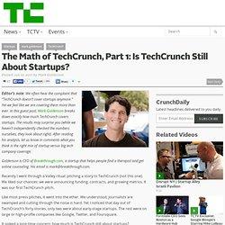 The Math of TechCrunch, Part 1: Is TechCrunch Still About Startups? (Build 20110413222027)