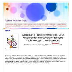 Techie Teacher Tips