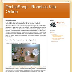 TechieShop - Robotics Kits Online: Latest Electronic Projects For Engineering Student