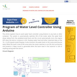 techieshop - Program of Water Level Controller Using Arduino