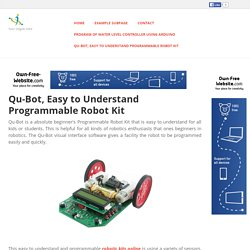 techieshop - Qu-Bot, Easy to Understand Programmable Robot Kit