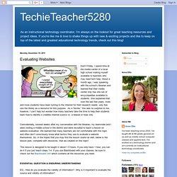 TechieTeacher5280: Evaluating Websites