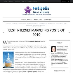 Best Internet Marketing Posts of 2010