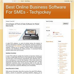 Best Online Business Software For SMEs - Techjockey: Advantages of Point of Sale Software for Retail Merchants