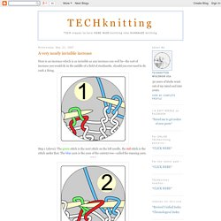 TECHknitting: A very nearly invisible increase