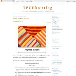 How to Knit Smooth Jogless Stripes in the Round - YouTube