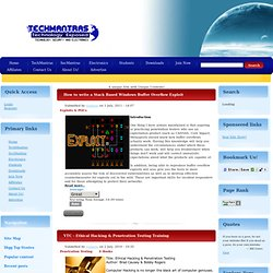 TechMantras, Ethical Hacking tutorials,Penetration testing,Hacking Tools,Exploits