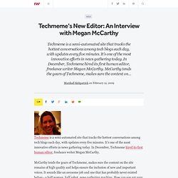 Techmeme's New Editor: An Interview with Megan McCarthy