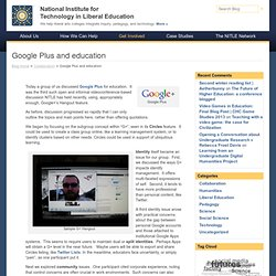 Google Plus and education