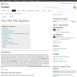 The FAT File System - TechNet Articles - United States (English) - TechNet Wiki