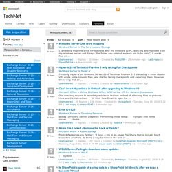 Technet forums