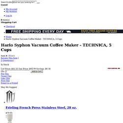 Hario Syphon Technica 20 oz Vacuum Coffee Maker: TCA-5