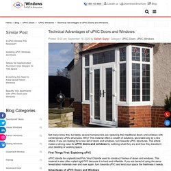 Technical Advantages of uPVC Doors and Windows