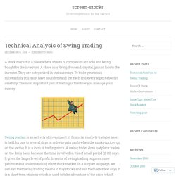 Technical Analysis of Swing Trading