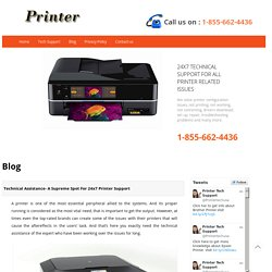 Technical Assistance- A Supreme Spot For 24x7 Printer Support