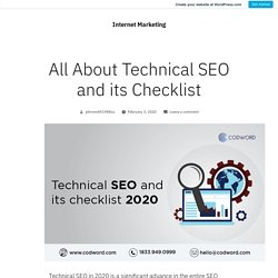 All About Technical SEO and its Checklist – Internet Marketing
