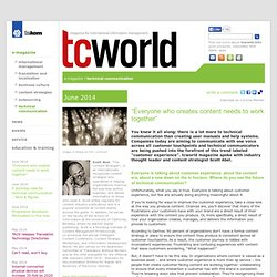 tcworld.info - technical communication - Future of Tech Comm