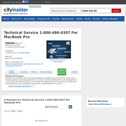 Technical Service 1-800-486-0307 For MacBook Pro Dexter City Computer Repair Local Services