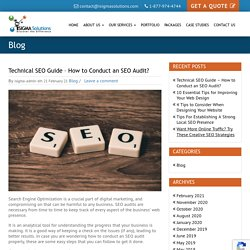 Technical SEO Guide – How to Conduct an SEO Audit? - iSigma Solutions