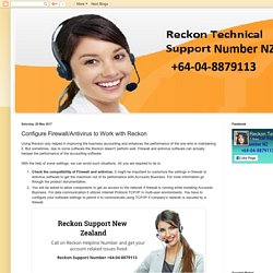 Reckon Technical Support Number NZ +64-04-8879113: Configure Firewall/Antivirus to Work with Reckon