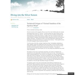 Technical Critique - Diving into the Silver Screen
