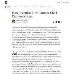 How Technical Debt Trumps Chief Culture Officers - Quandoo - Medium