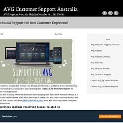 AVG Technical Support for Best Customer Experience