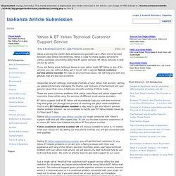 Yahoo & BT Yahoo Technical Customer Support Service
