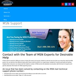 1-888-264-6472 Help Desk for MSN Password Reset & MSN Password Recovery