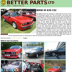 BMW M 635 CSi technical details, history, photos on Better Parts LTD