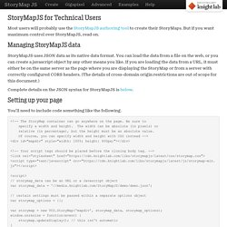 Technical Details - StoryMap JS - Telling stories with maps.
